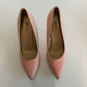 Justfab Size 9.5 Pink High Heeled Shoes